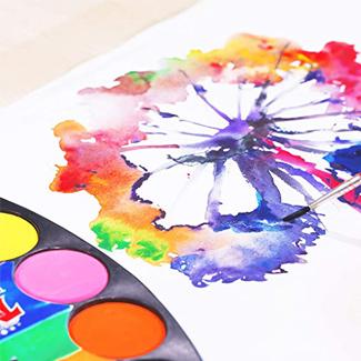 TBC Artist Paint Palette with Paint Brush