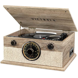 Victrola Brookline Style 6-in-1 Bluetooth Record Player