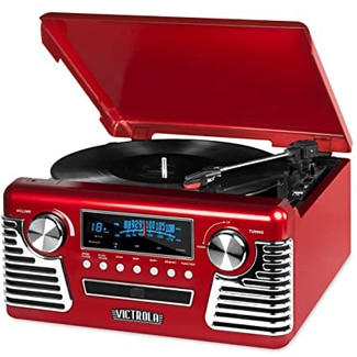 Victrola 50's Retro Bluetooth Record Player & Multimedia Center