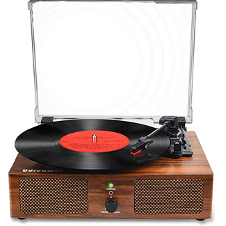 Udreamer Record Player with Built-in Speakers and USB