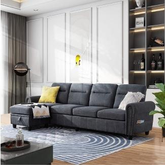 Walsunny Reversible Sectional Sofa