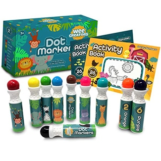 Washable Markers with 2 Educational Books