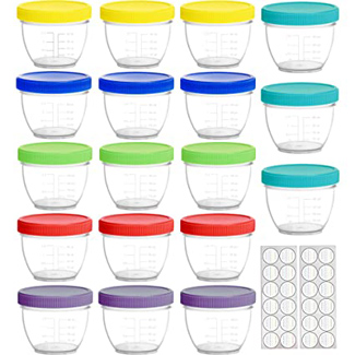 Youngever Baby Food Storage Containers with Lids