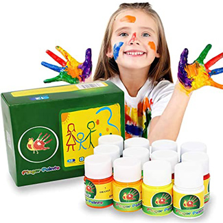 Finger Paint Set in 12 Colors  – Eco-Friendly