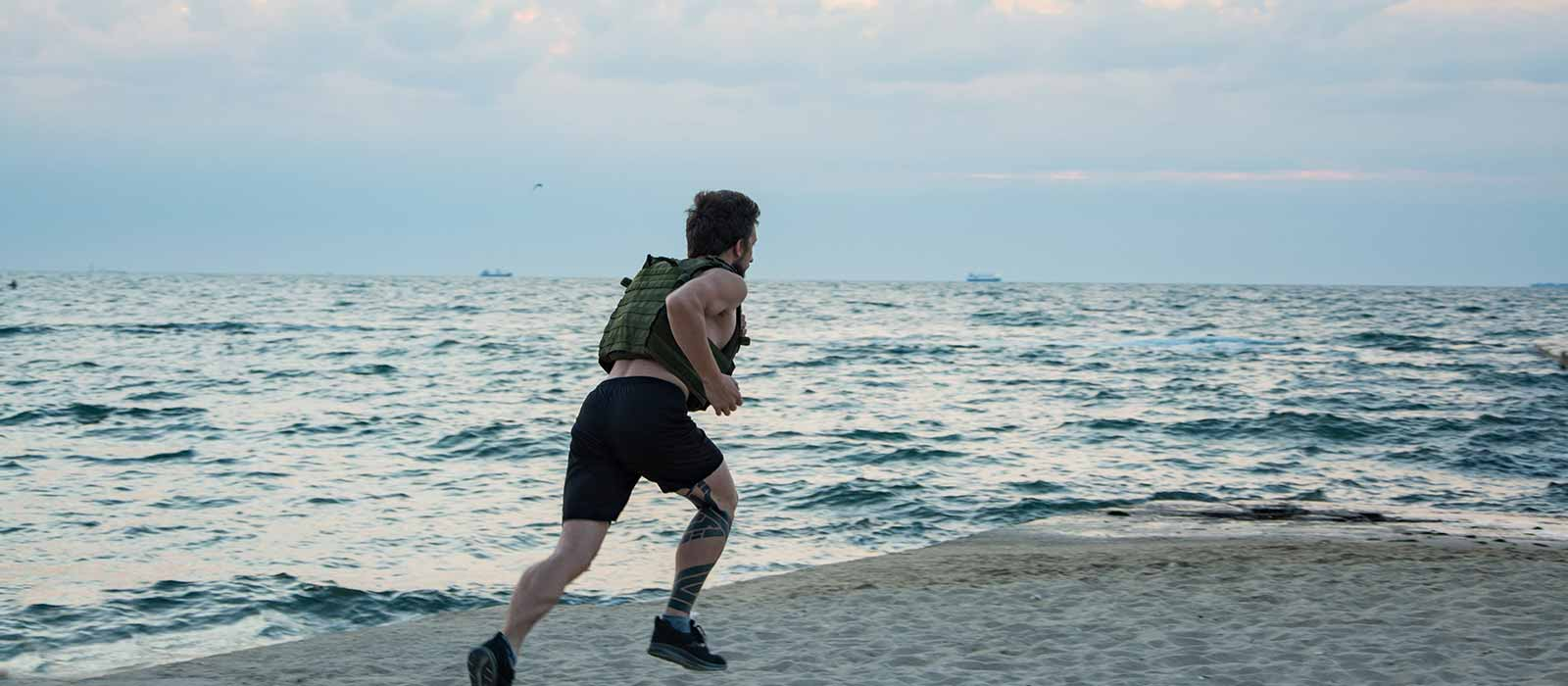running with weighted vest