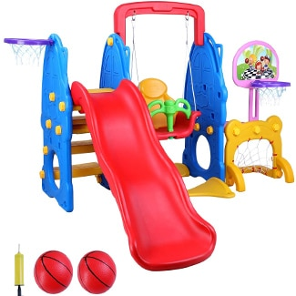 LAZY BUDDY 5 in 1 Toddler Playground
