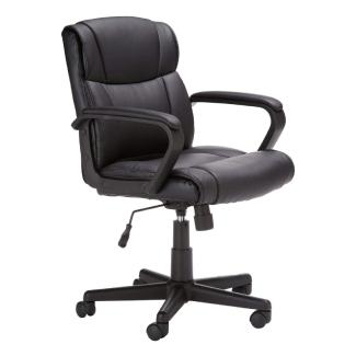 AmazonBasics Leather-Padded Swivel Chair