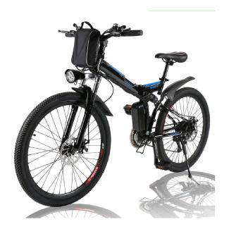 "Angotrade 26"" Electric Bike – Folding Mountain Bike"