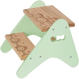 B.Spaces Wooden Two-Step Stool