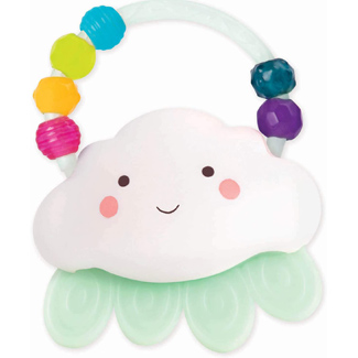 B. toys Rain-Glow Squeeze Light-Up Cloud Rattle