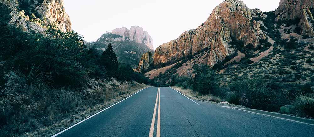 Big bend texas road