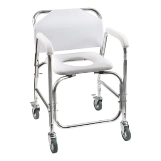 DMI Rolling shower and commode transport chair