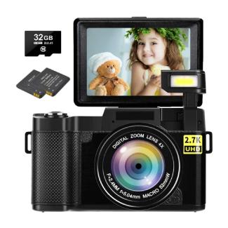 Digital Vlogging Camera with Flip Screen