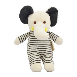 Dordor & Gorgor Organic Plush Toy, Dye Free Natural Hue, Elephant
