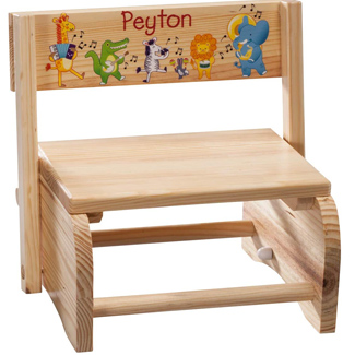Personalized 2-in-1 Children's Step Stool and Chair