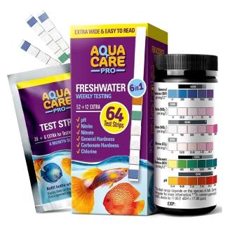 AQUA CARE PRO Freshwater Aquarium Test Strips
