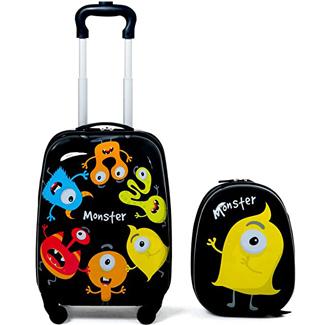 Goplus 2Pc Kid Luggage, 12 and 16 Kids Carry On Luggage Set