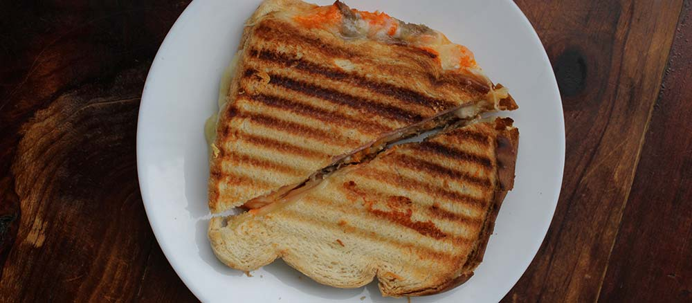 Grilled sandwich from Toaster oven
