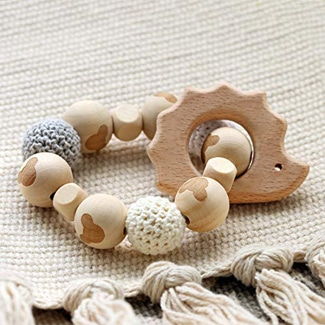 Promise Babe Hedgehog Wooden Teether