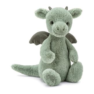 Jellycat Bashful Dragon Stuffed Animal, Medium