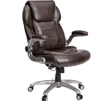 AmazonCommercial Ergonomic High-Back Leather Executive Chair