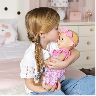Luvabella Interactive Baby Doll with Expressions & Movement (White or Black Baby Versions)