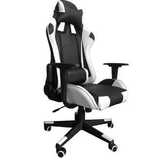 Gaming Chair with Headrest and Lumbar Support