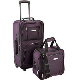 Rockland Fashion Softside Upright Luggage Set