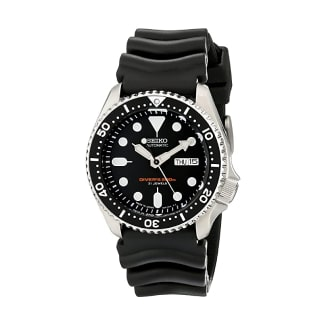 Seiko SKX007J1 Analog Japanese-Automatic Black Rubber Diver's Watch