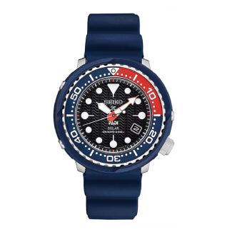Seiko PADI Special Edition Prospex Solar Dive Watch with Black Silicone Strap 200 m SNE499