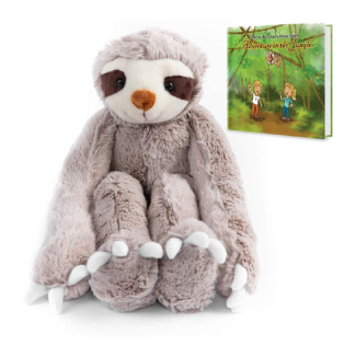 Cuddle Buddies Stuffed Animal Sloth Toy Ultra Soft with Velcro Hands