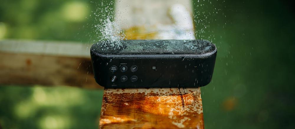 bluetooth speaker - waterproof in the rain