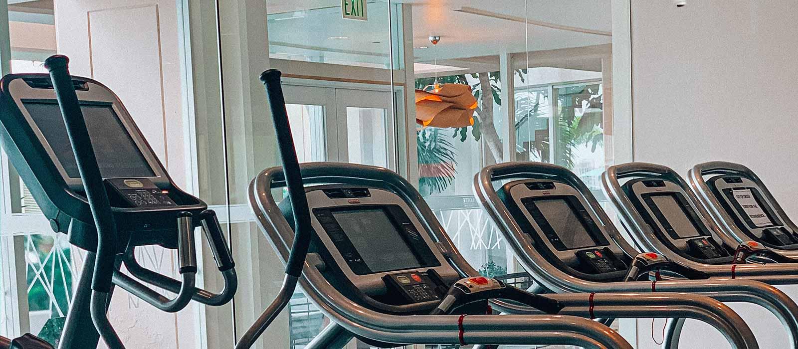 elliptical in a gym