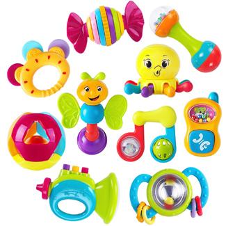 iPlay, iLearn 10 Piece Baby Rattles