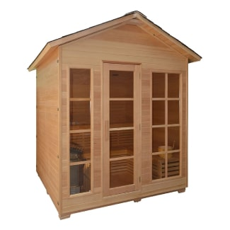 Canadian Red Cedar 4 Person Indoor/Outdoor Wet/Dry Sauna