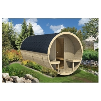 Allwood 8-Person Outdoor Dry or Steam Sauna & Dressing Room