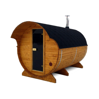 6-8 Person Wood-Burning or Harvia Heater Barrel Sauna