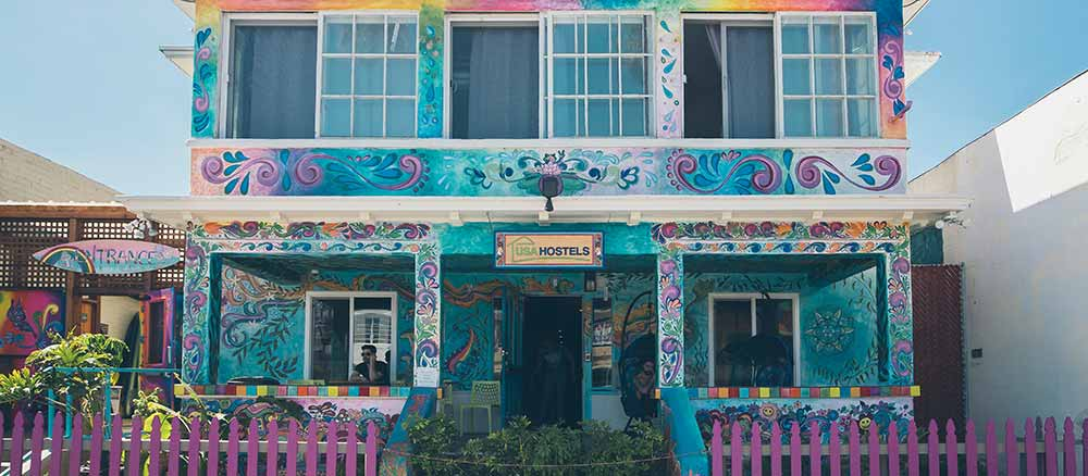 Colorful hostel