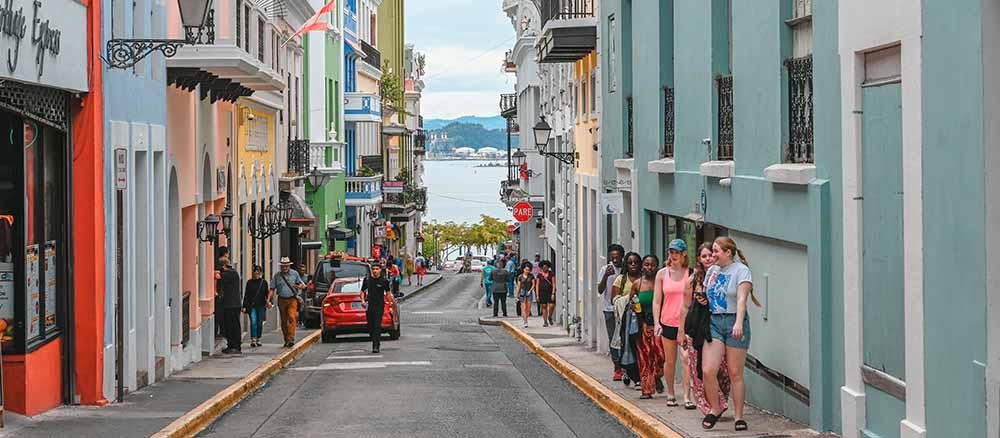 Colorful street in Puerto Rico