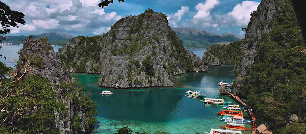 Cove in the Philippines