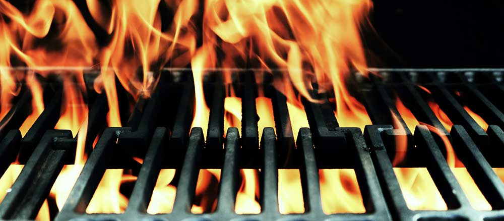 Fire-from-a-gas-grill