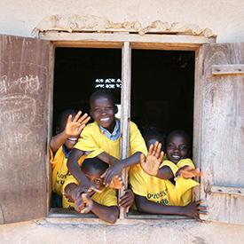Friendly locals in Uganda