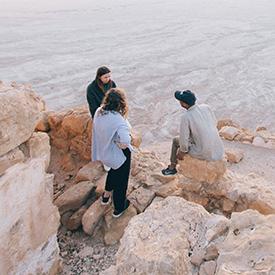 Group of people in Desert in Israel