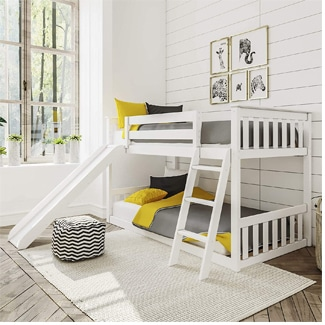 Max & Lily Twin Bunk Bed with Slide