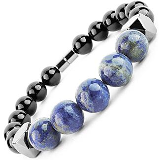 One Ion Keeper's Lapis Tourmaline Energy Bracelet