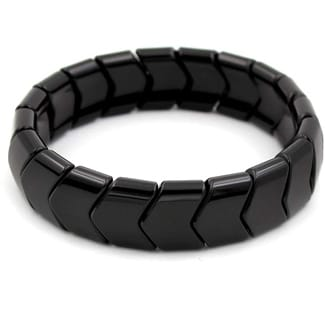 Power Ionics Health Black Tourmaline Stretch Bracelet
