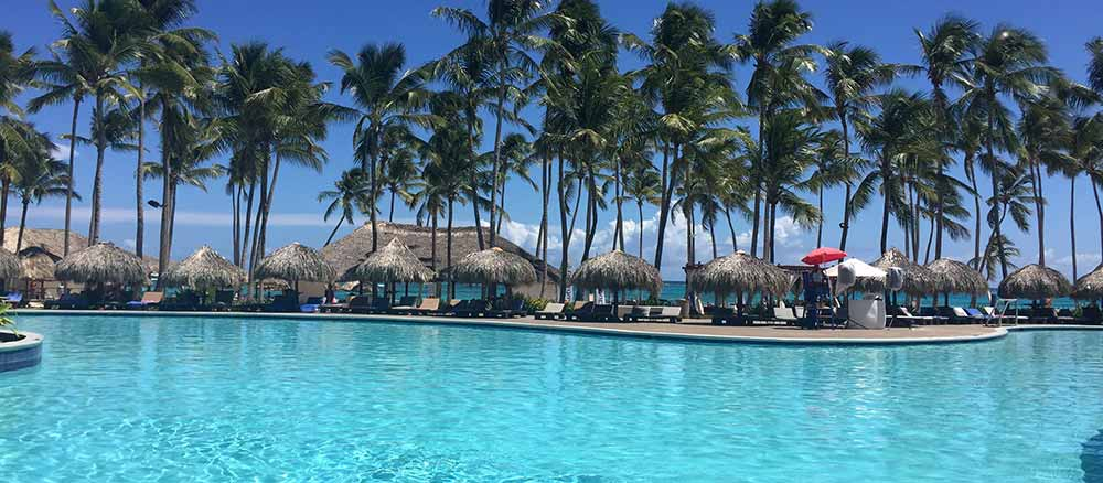 Punta Cana pool with beach view