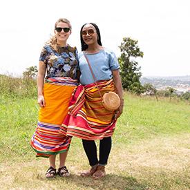 Two women in Uganda
