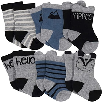 Gerber Organic Wiggle-Proof Socks (Multiple Colors)