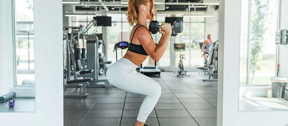 Women balancing while exercising